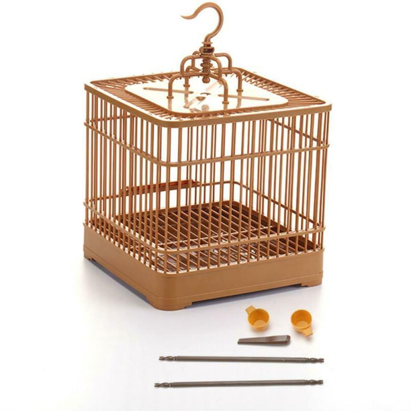 Bird Hanging Feed Plastic Bird Cage