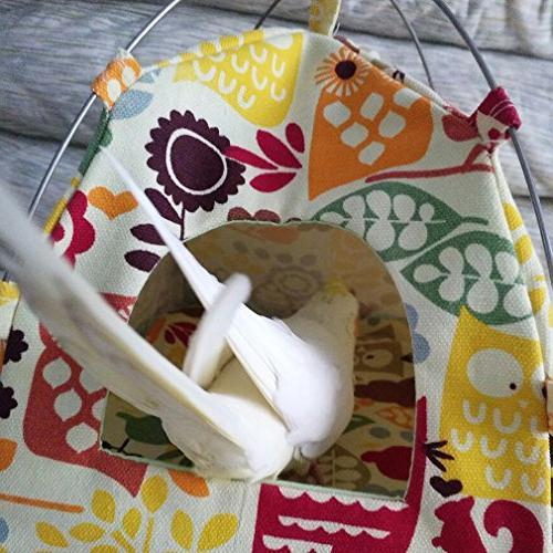 KINTOR Bird Bed, Habitat Hanging Snuggle & Improvement Decor for Small Animals