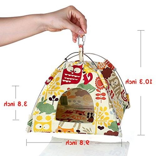 KINTOR Bed, Parrot Hanging Snuggle Hut Hammock, Intelligence & Cage Decor Small