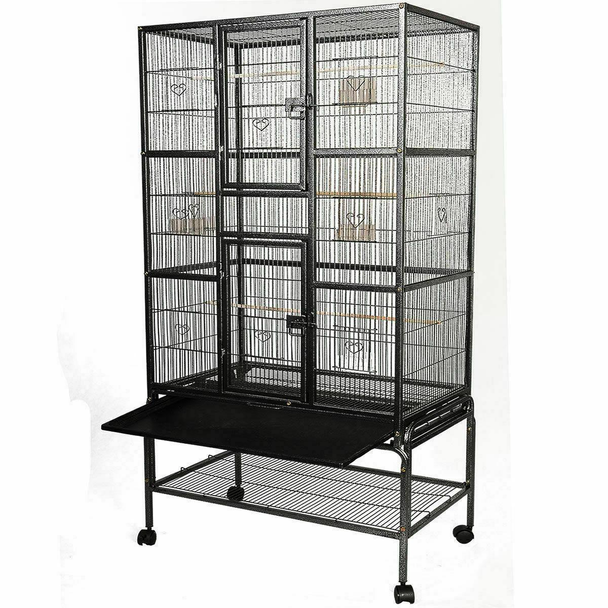 Bird Parrot Cage Chinchilla Cockatiel Conure Large W/Stand &
