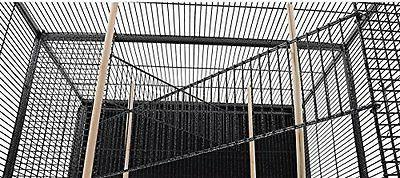 LARGE Bird Cage Cockatiel Black