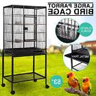 "Large Bird 53"" Parrot Cage Iron Pet Supplies Finch Conures H"