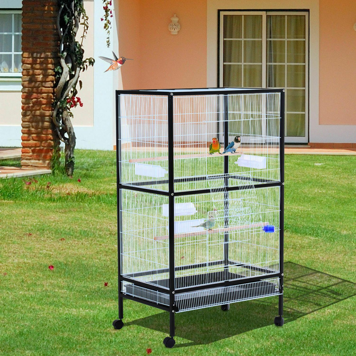 Large Bird Parrot Cage Play Top Finch Macaw Cockatoo House P
