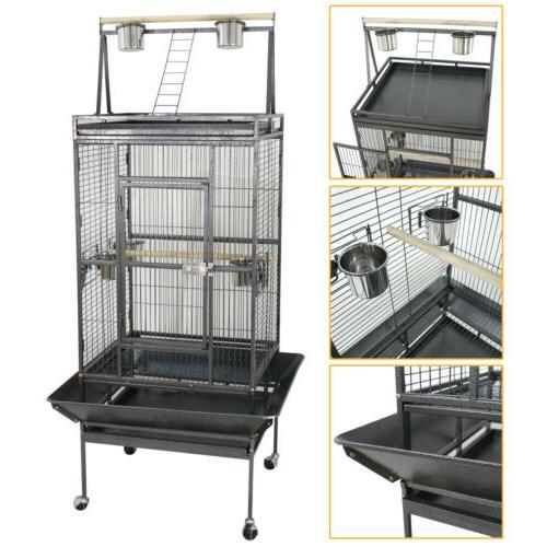 bird parrot open playtop cage
