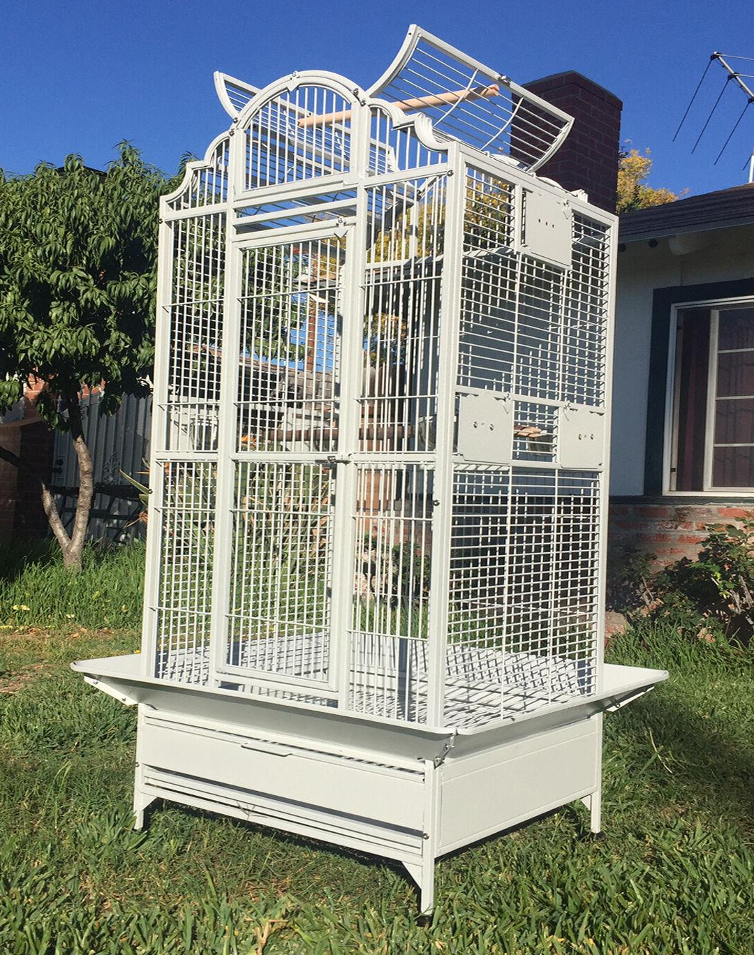 "64"" Large Bird Parrot PlayTop Cage Cockatiel Macaw Conure Av"