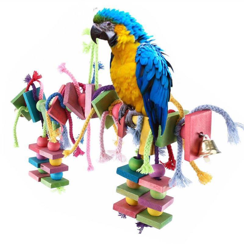 Big Bird Parrot Play Stand Cockatoo Macaws Gym Perch Knots B