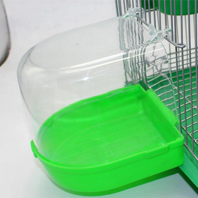 Bird Bath Bowl Cage Water Hanging Birdbath Plastic For Parak