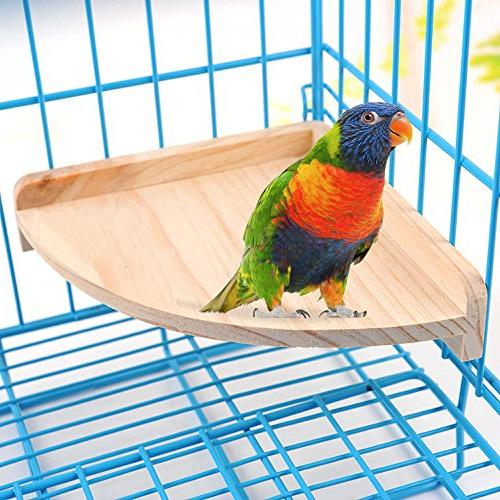 Mrli Pet Bird Perch Platform Small Animals Parrot Conure Rat Mouse Hamster Cage Accessories Exercise