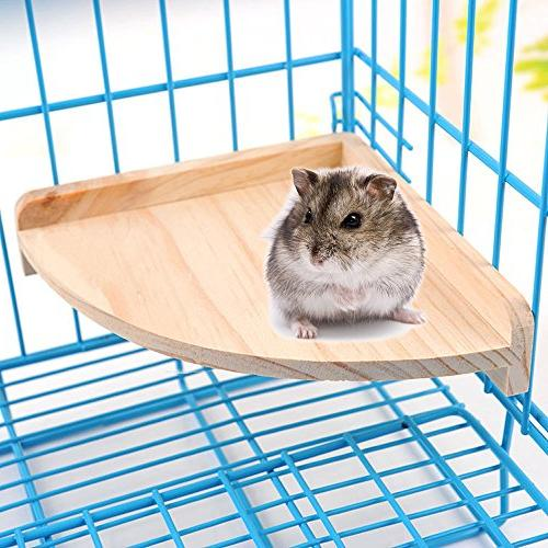 Mrli Pet Platform Small Animals Parrot Conure Cockatiel Rat Mouse Cage Accessories Sector