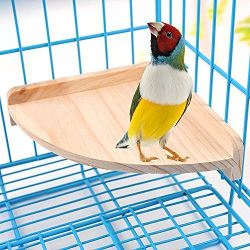 bird perch platform stand wood
