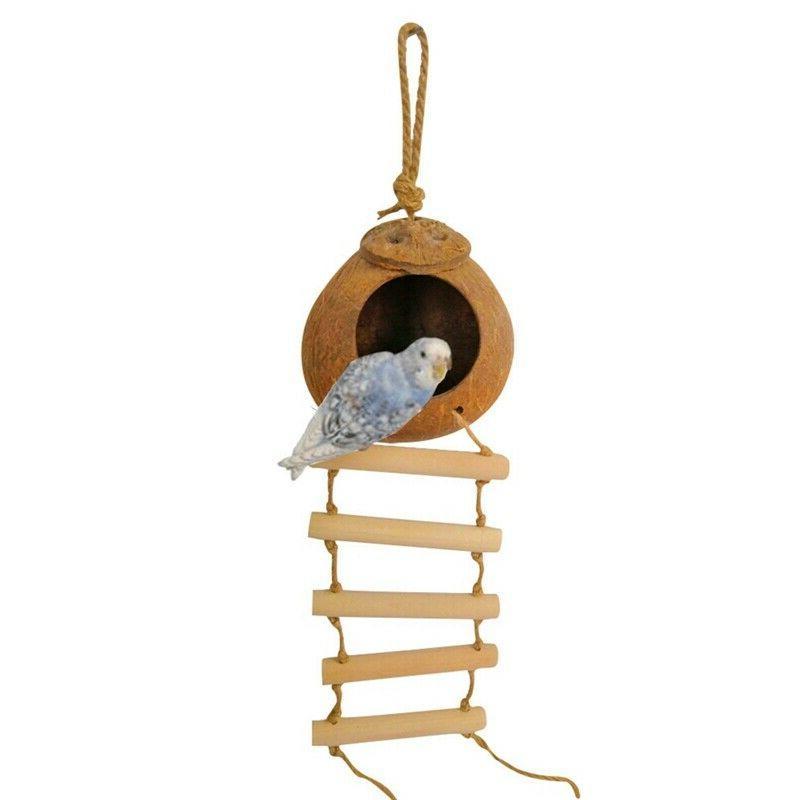 bird pet hanging coconut house bird nest