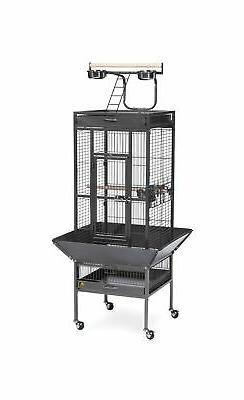 Bird Supplies Cockatiel Wi Cage Blk 18X18x57