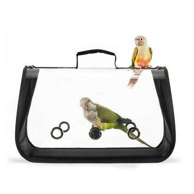 US Pet Parrot Bird Carrier Cage Breathable Handbag Multifunc
