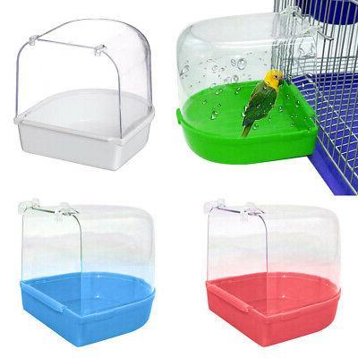 Cleaner Parrot Bird Bathtub Box Bird Bath Shower Standing Wa