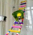 Bird Natural Wood Swing Ladder Toy For Parrot Pet Cage Hangi
