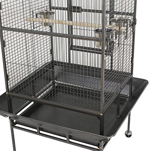 "Nova Microdermabrasion 68"" Large Bird Cage Top Parrot Parakeet Macaw Cockatoo Cage W/Stand Perch Pet Supplies"