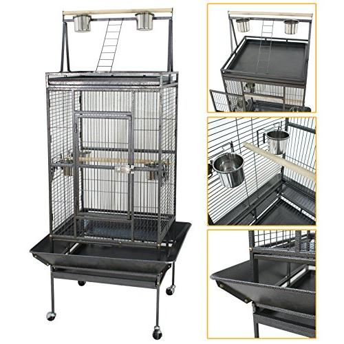 """ZENY 68"""" Large Cage Play Top Parrot Parakeet"""