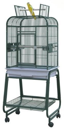 BirdsComfort HQ Flat Open Cockatiel Bird Cage with Cart Stan
