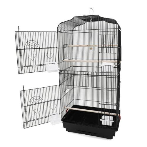 "Black 37"" Bird Cage Canary Bird Cages"