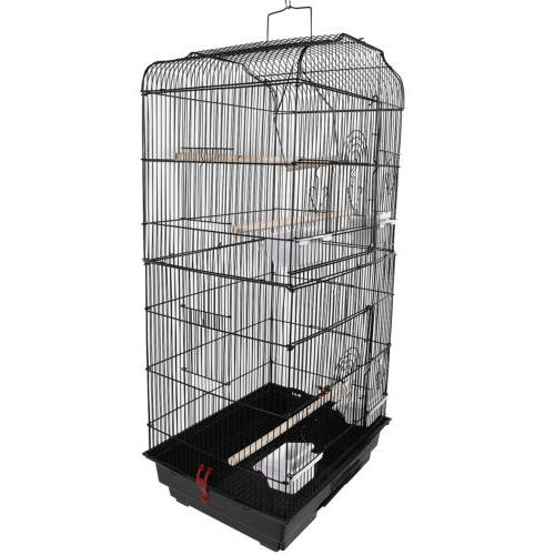 "Black 37"" Parrot Cage Parakeet Cockatiel Bird Finch"