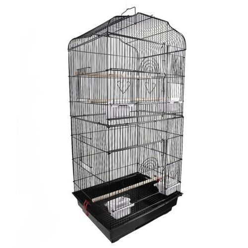 "Black 37"" Bird Cage Parakeet Bird Cages"