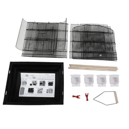 """Black 37"""" Cage Parakeet Bird Finch Cages"""