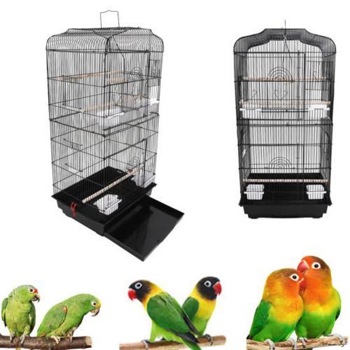 black 37 bird parrot cage canary parakeet