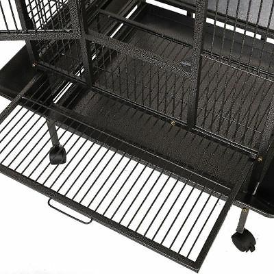 Black Bird Cage Large Play Finch Cage Supplies
