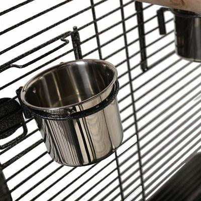 Black Bird Cage Play Top Parrot Cage Pet Supplies