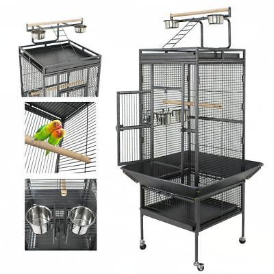 """61"""" Bird Cage Play Top Large Parrot Cage Include Ladder & 2"""
