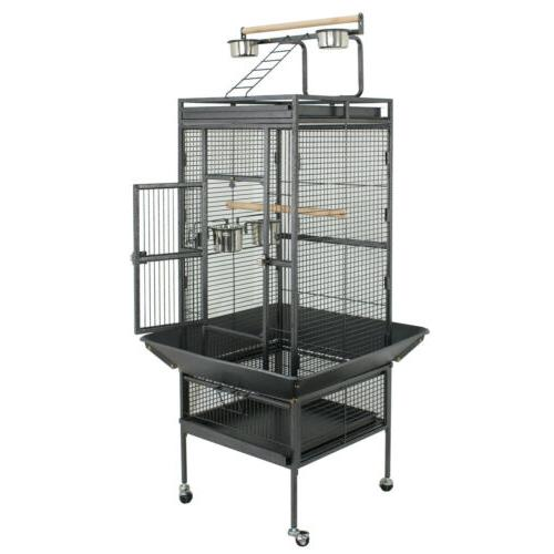 "61"" Bird Cage Play Top Large Parrot Cage Include Ladder & 2"