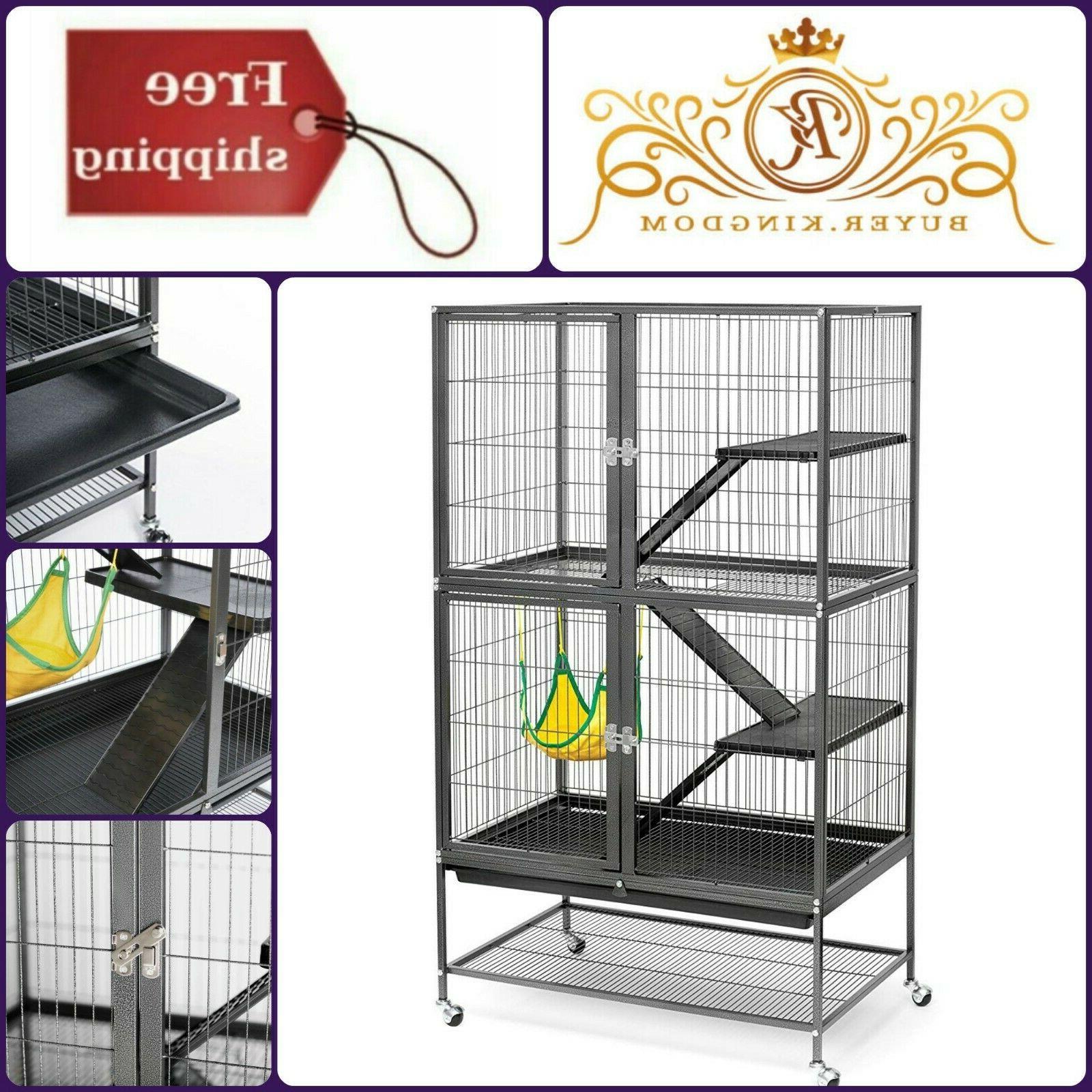 Black Hammertone Feisty Ferret Spacious Iron Cage Escape Pro