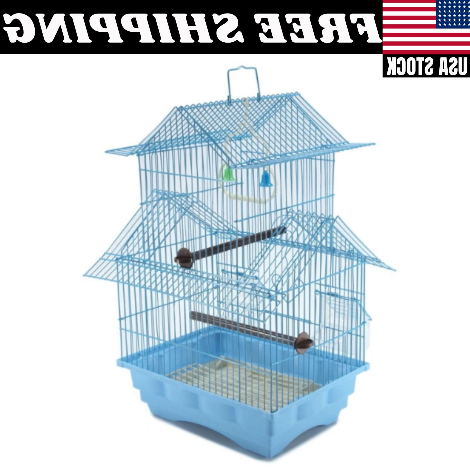 Blue Bird House Style Kit Perch Two Story