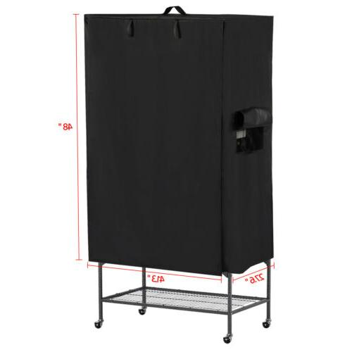 Breathable Bird Cage 210D Oxford Pet Cage Cover,Black