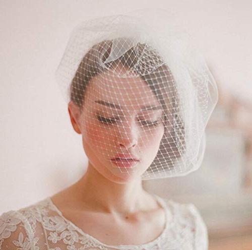 Deniferymakeup Bridal Ivory Birdcage Veil Crystal Comb Bridal Veil Bridal Birdcage Veil Veil Fingertip Veil