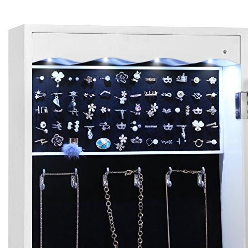 SONGMICS Jewelry Cabinet Lockable Mounted Jewelry