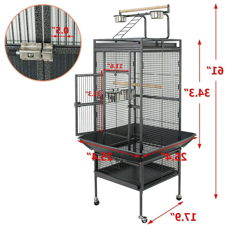 Cage Bird Parrot Medium Cockatiel Finch Pet Parakeet Stand T