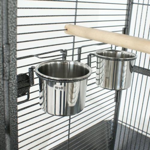 Cage Bird Parrot Medium Cockatiel Stand Top Supply Wire
