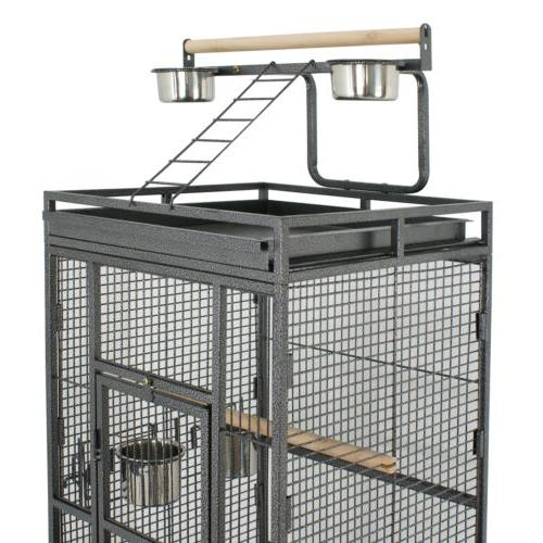 Cage Cockatiel Finch Stand Top Supply Wire