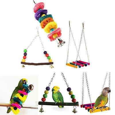 Cage Hammock Swing Hanging Chew Toys For Bird Parrot Parakee