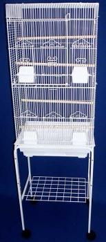 New Canary, Finch,Parakeet, Lovebird Cage W/Stand On Wheels