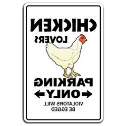 CHICKEN LOVERS Parking Sign novelty gift funny dairy farm fa