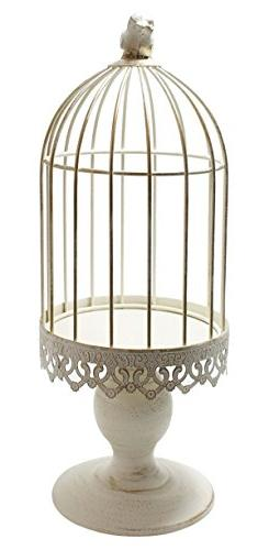 JustNile Classic Candle Stand - Large White Bird Cage