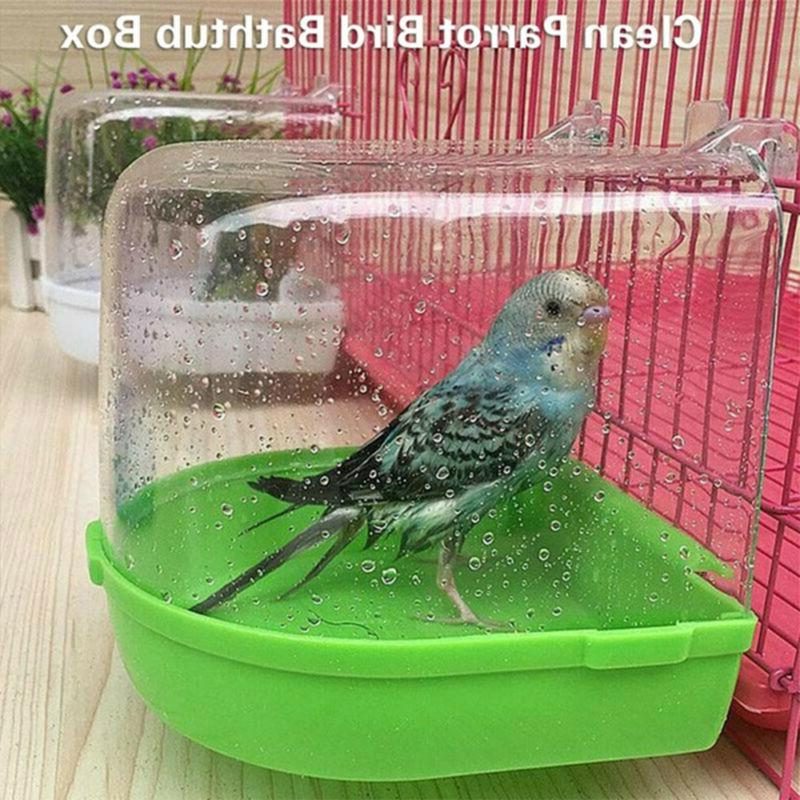 Round Mounted Hanging Cage Bath Shower Box Bird Cage Accesso
