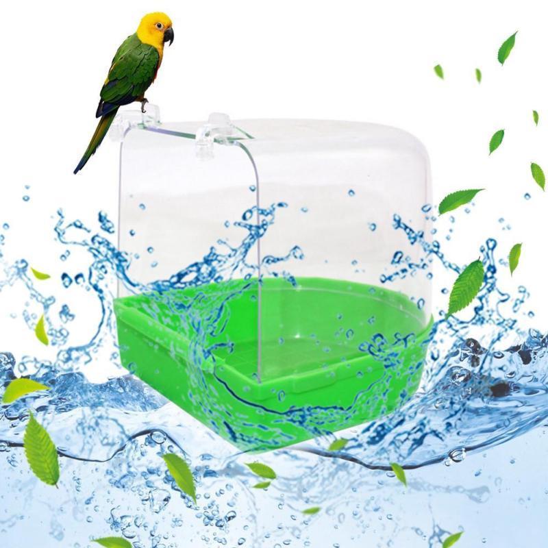 Clean Parrot Box Bath Standing Cage