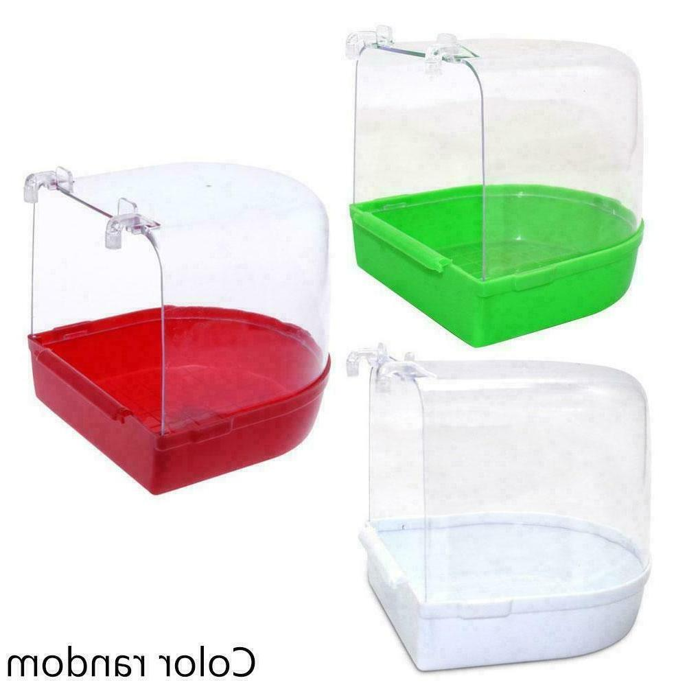 Clean Parrot Bird Bathtub Box Bird Bath Shower Standing New