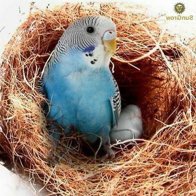 SunGrow Coconut Fiber:Comfortable Bedding for Small Birds an