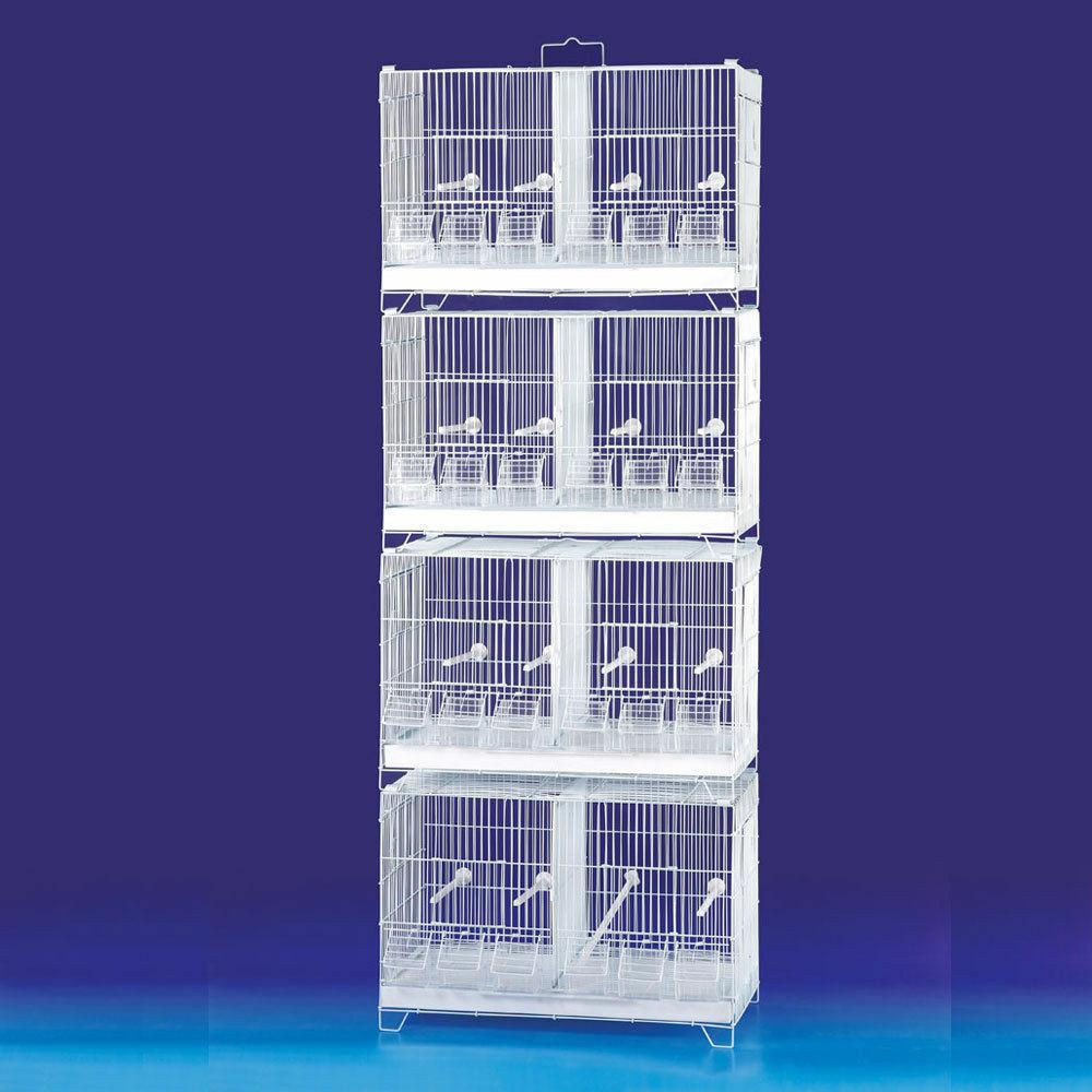 COMBO: 4 Stack and Lock Double Breeder Bird Breeding Cages W