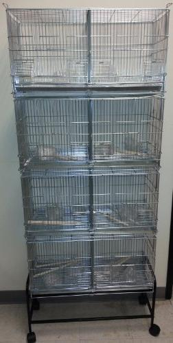 "COMBO: LARGE Lock Breeder Cage Bird Breeding With Removable And Doors 30"" x 11"" Cages And Black"