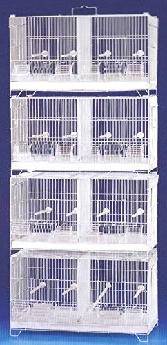 COMBO: Stack and Lock Double Breeder Cage Bird Breeding Cage